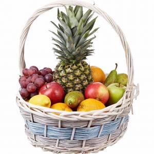 Светлая средняя корзина с фруктами R331
