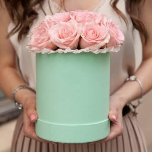 Коробка 15 кремовых роз R010